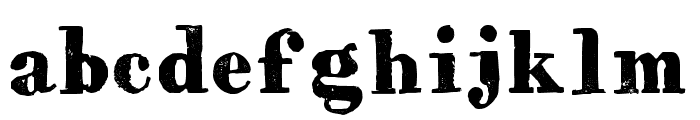 HVD Bodedo Regular Font LOWERCASE