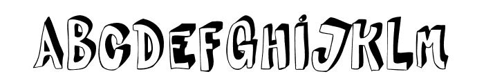 HVD Steinzeit Fill In Font UPPERCASE