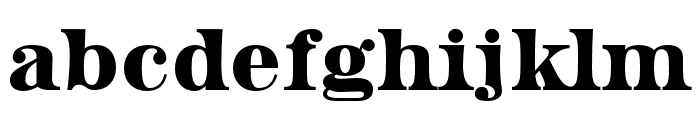 HWT Aetna Double Extra Condensed Font LOWERCASE