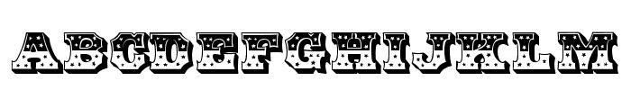 HWT American Inset Font UPPERCASE