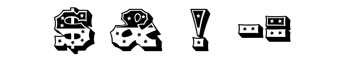 HWT American Stars Font OTHER CHARS