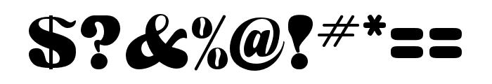 HWT Arabesque Regular Font OTHER CHARS