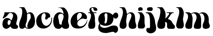 HWT Arabesque Regular Font LOWERCASE