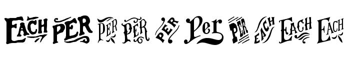 HWT Catchwords Regular Font OTHER CHARS