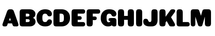 HWT Gothic Round Plain Font UPPERCASE