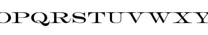 HWT Roman Extended Lightface Regular Font UPPERCASE