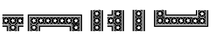 HWT Star Ornaments Regular Font OTHER CHARS