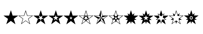 HWT Star Ornaments Regular Font UPPERCASE
