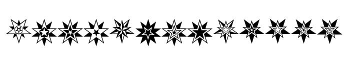 HWT Star Ornaments Regular Font LOWERCASE