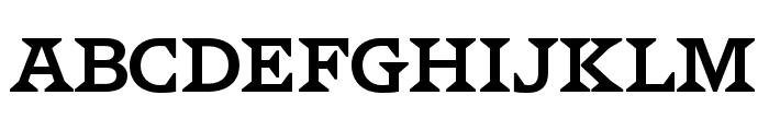 HWT VanLanen Regular Font LOWERCASE