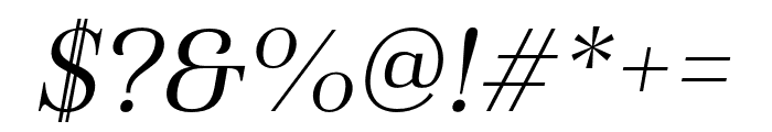 Haboro Cond Book Italic Font OTHER CHARS