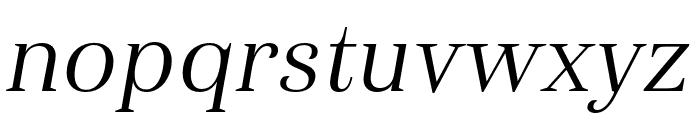 Haboro Cond Book Italic Font LOWERCASE