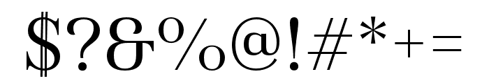Haboro Cond Regular Font OTHER CHARS