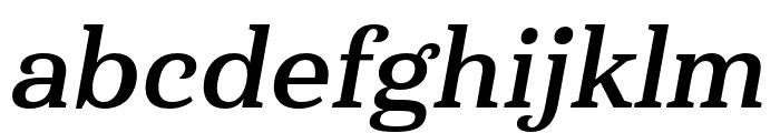 Haboro Serif Cond Bold It Font LOWERCASE