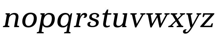Haboro Serif Cond Demi It Font LOWERCASE
