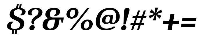 Haboro Serif Cond ExBold It Font OTHER CHARS