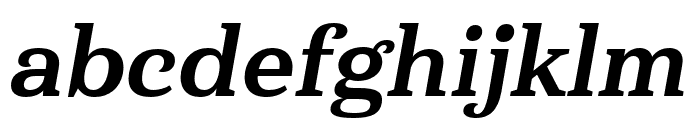 Haboro Serif Cond ExBold It Font LOWERCASE