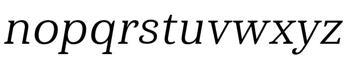 Haboro Serif Cond Regular It Font LOWERCASE