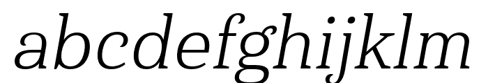 Haboro Serif Ext Book It Font LOWERCASE