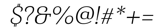 Haboro Serif Ext Light It Font OTHER CHARS