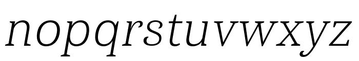 Haboro Serif Ext Light It Font LOWERCASE