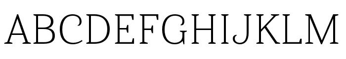 Haboro Serif Ext Light Font UPPERCASE