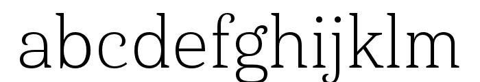 Haboro Serif Ext Light Font LOWERCASE