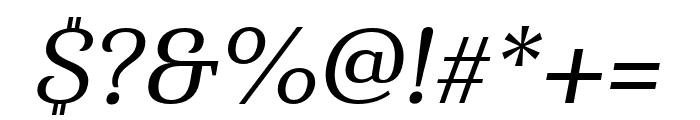 Haboro Serif Ext Medium It Font OTHER CHARS