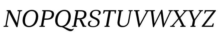 Haboro Serif Ext Medium It Font UPPERCASE
