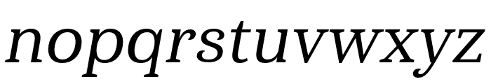 Haboro Serif Ext Medium It Font LOWERCASE