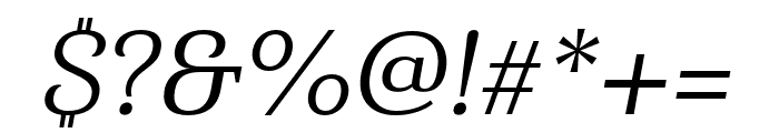 Haboro Serif Ext Regular It Font OTHER CHARS