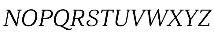 Haboro Serif Ext Regular It Font UPPERCASE