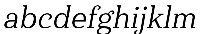 Haboro Serif Ext Regular It Font LOWERCASE
