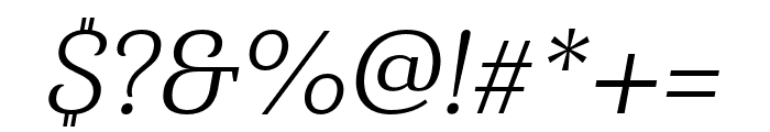 Haboro Serif Norm Book It Font OTHER CHARS