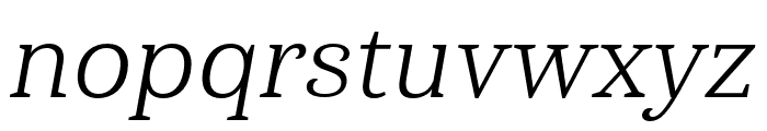 Haboro Serif Norm Book It Font LOWERCASE