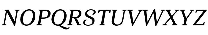 Haboro Serif Norm Demi It Font UPPERCASE