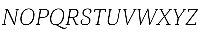 Haboro Serif Norm Light It Font UPPERCASE