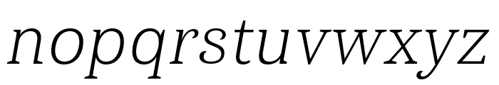 Haboro Serif Norm Light It Font LOWERCASE
