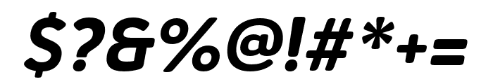 Haboro Soft Cond ExBold Italic Font OTHER CHARS
