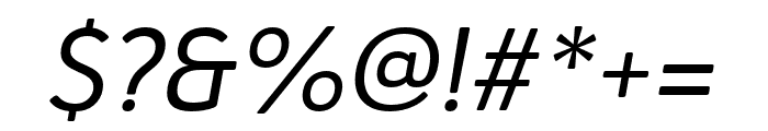 Haboro Soft Cond Regular Italic Font OTHER CHARS
