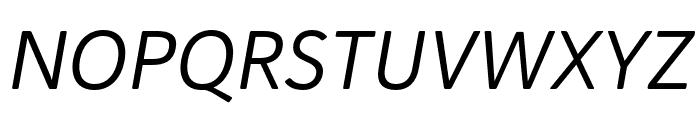Haboro Soft Cond Regular Italic Font UPPERCASE