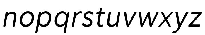 Haboro Soft Cond Regular Italic Font LOWERCASE
