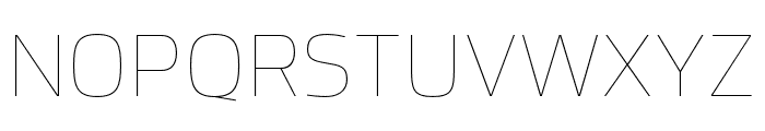 Hackman Thin Font UPPERCASE