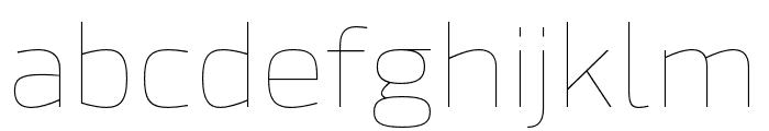 Hackman Thin Font LOWERCASE