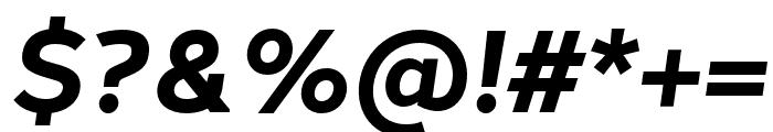 Halcom Bold Italic Font OTHER CHARS