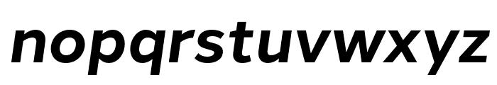 Halcom Bold Italic Font LOWERCASE