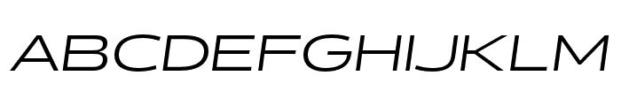 Halogen Regular Oblique Font UPPERCASE