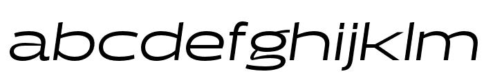 Halogen Regular Oblique Font LOWERCASE