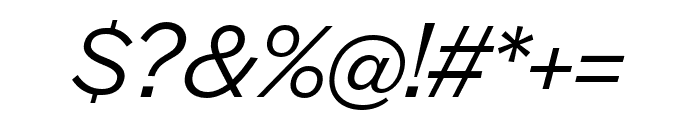 Halyard Display Book Italic Font OTHER CHARS