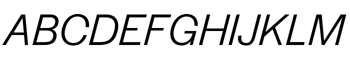 Halyard Display Book Italic Font UPPERCASE